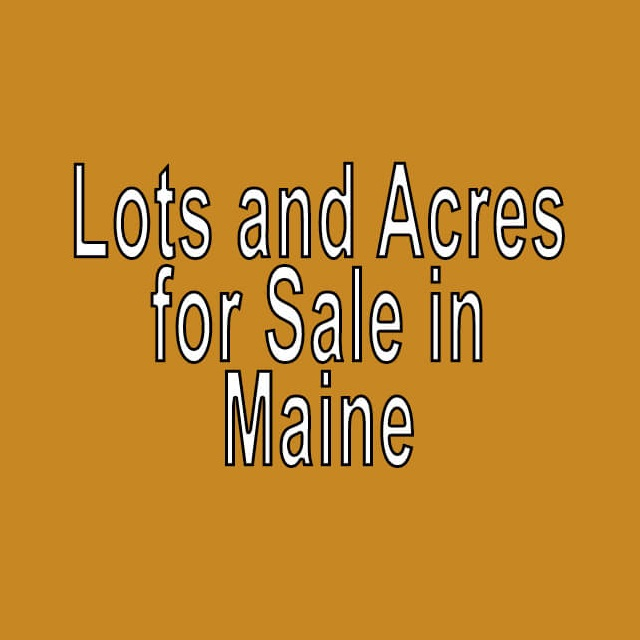 Buy Cheap Land in Maine