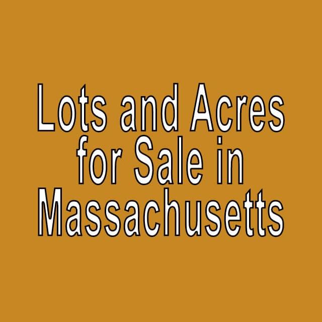 Buy Cheap Land in Massachusetts