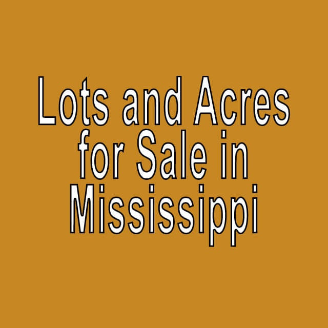 Buy Cheap Land in Mississippi
