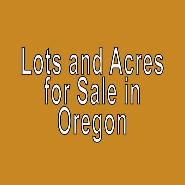 Buy Cheap Land in Oregon