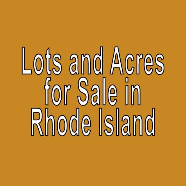 Buy Cheap Land in Rhode Island