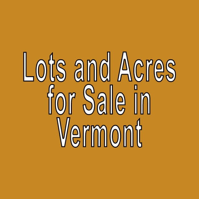 Buy Cheap Land in Vermont