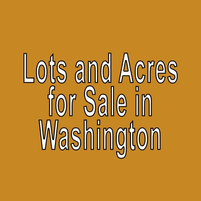 Buy Cheap Land in Washington