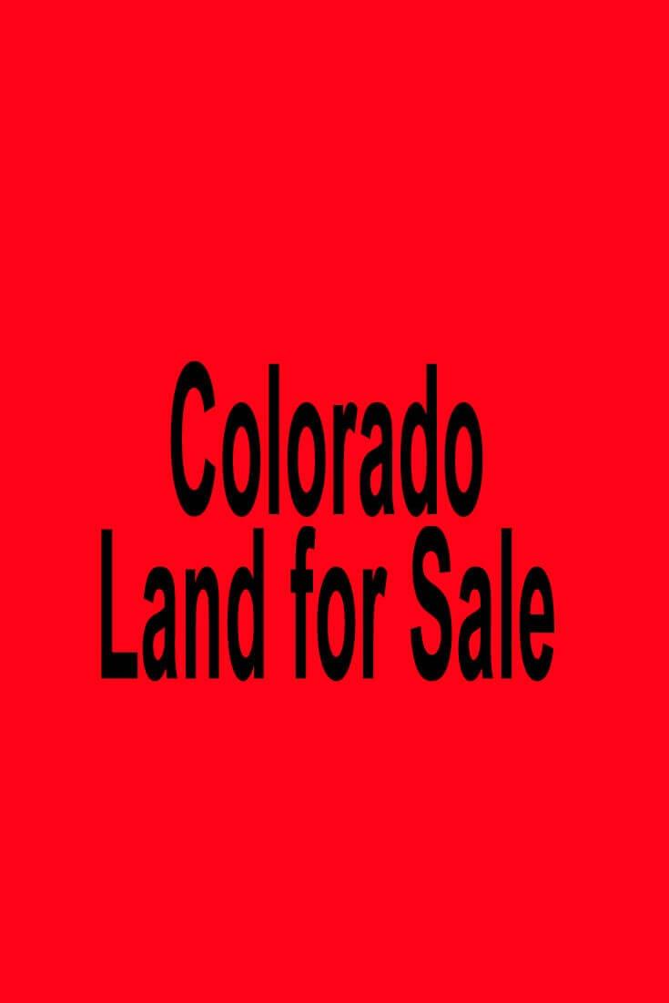 Land For Sale Colorado Springs >> Colorado Land For Sale