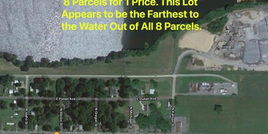 8 Lots Within Approx 1,100 Feet to the Water! 8 Lots Near Water! Separate Parcels!